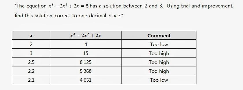 Trial and improvement homework help