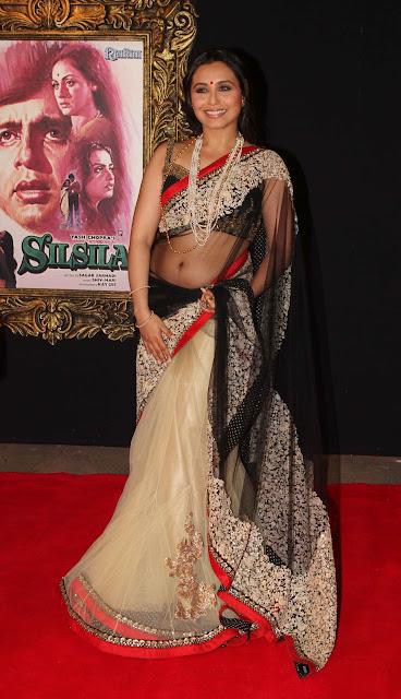 Rani Mukherjee Spicy  In Saree Pos