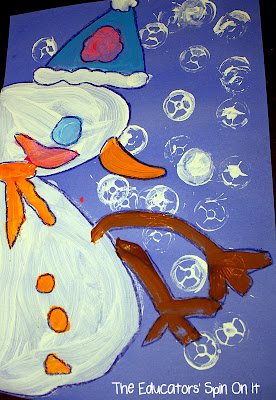 Snowman Painting activity for kids