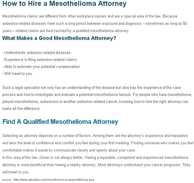 Average Compensation For Mesothelioma Claim