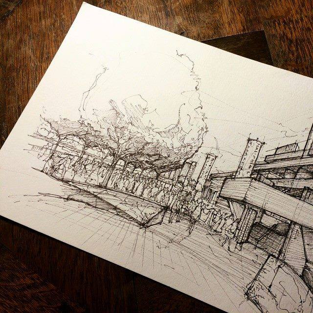 15-Southbank-Luke-Adam-Hawker-Creating-Architectural-Drawings-on-Location-www-designstack-co