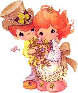 Niños enamorados preciosos momentos