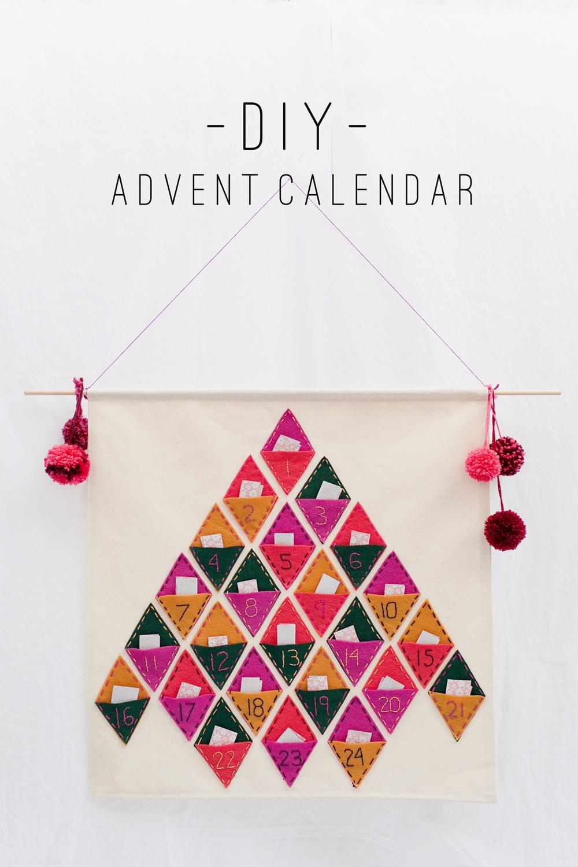 Diy Advent Calendar : Tell diy advent calendar love and party