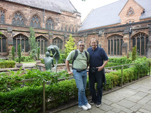 In the Cloister at Chester Cathedral