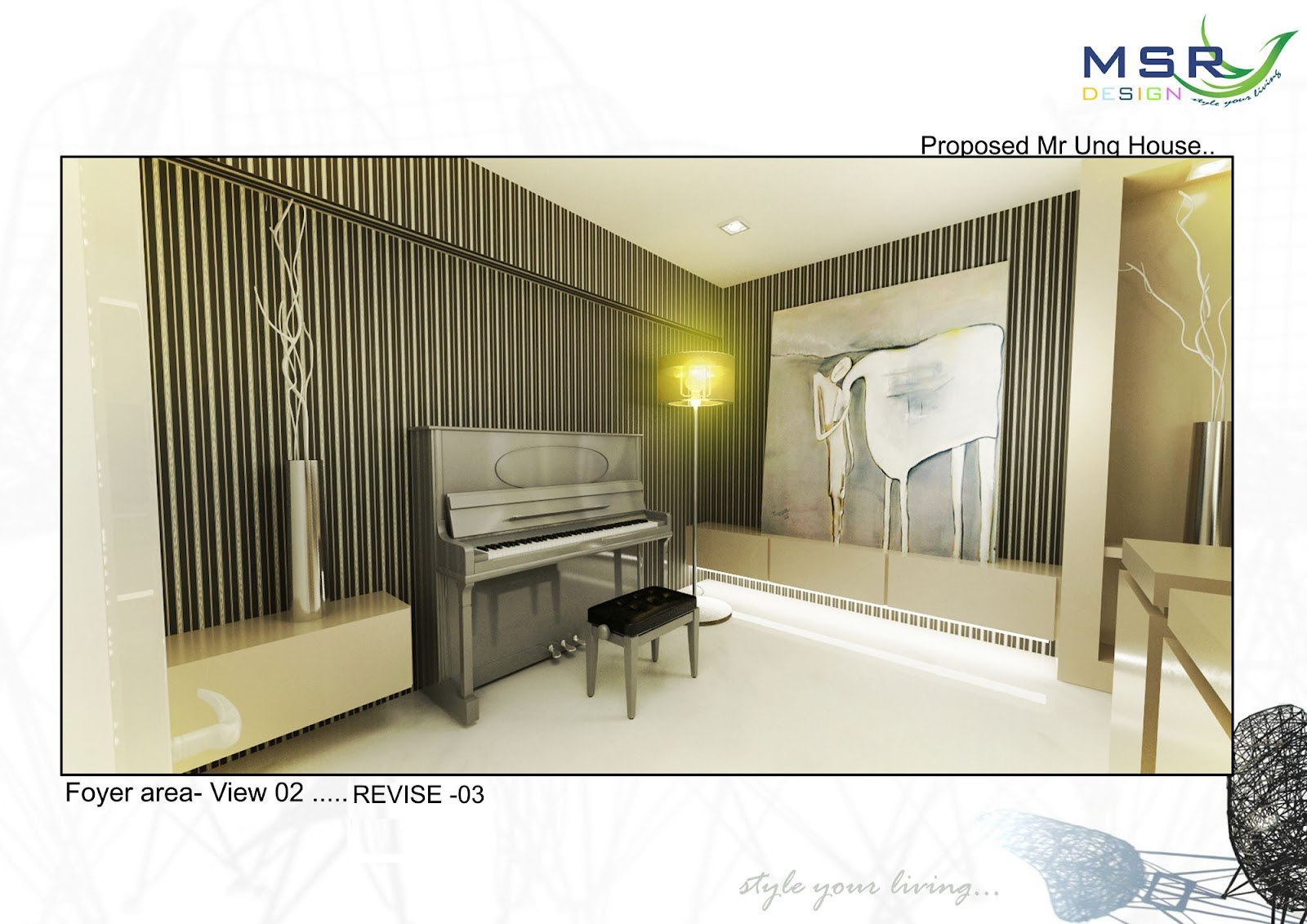 Mica interior design and construction foyer 3d for Foyer area interior