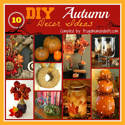 Frugal Mom and Wife: 10 DIY Autumn Decor Ideas!