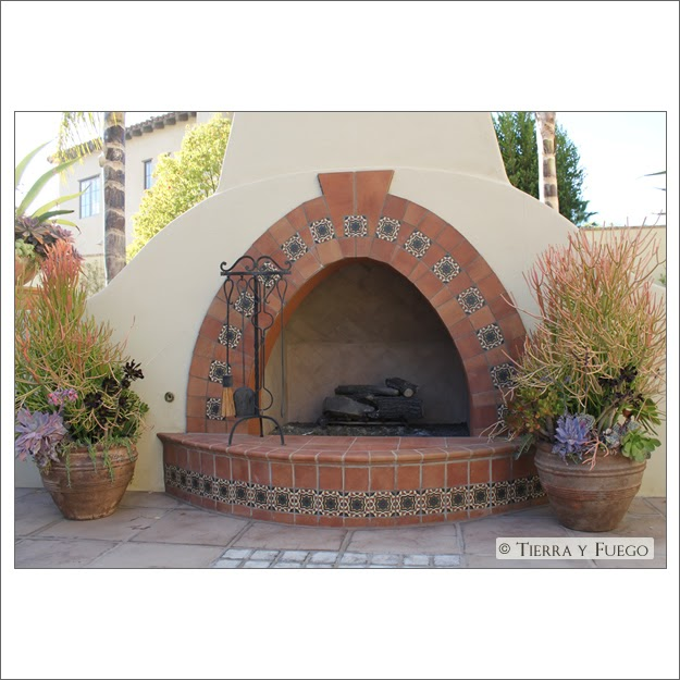 Kate presents spanish revival outdoor fireplace for Spanish outdoor fireplace