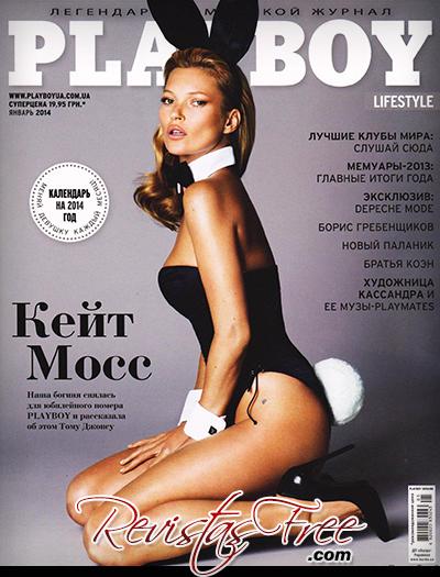 Kate Moss - Playboy Ukraine - Janeiro 2014