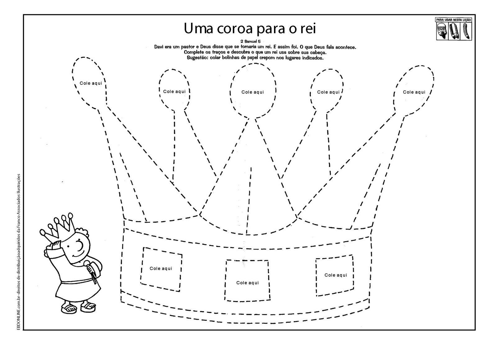 Extremamente CRESCENDO NA GRAÇA: Atividades sobre o Rei Davi LJ55