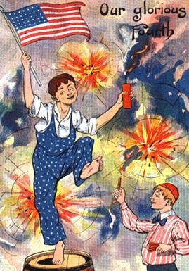mystery fanfare fourth of july vintage fireworks postcards. Black Bedroom Furniture Sets. Home Design Ideas