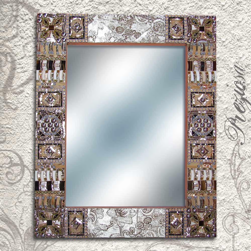 Lo scrigno di preziosa galleria mosaico e decorazioni - Specchio con mosaico ...