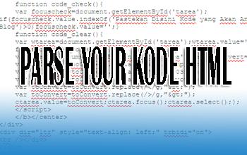 Alat parse kode html