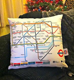 Underground map cushion