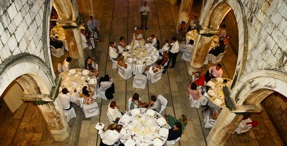 Sponza Palace dinner reception, Dubrovnik, Croatia