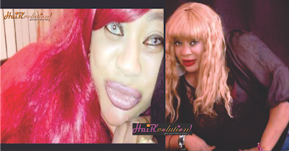 ACTRESS AYO ADESANYA GOES RED AND BLONDE