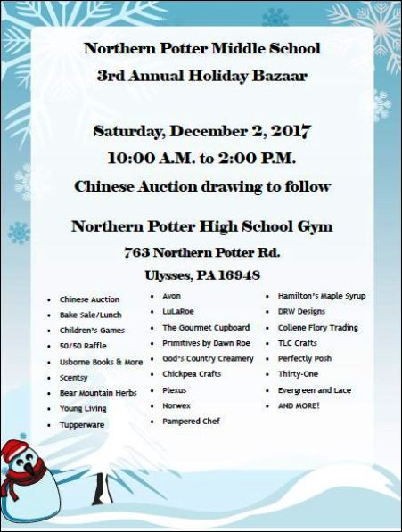 12-2 Northern Potter Middle School Bazaar