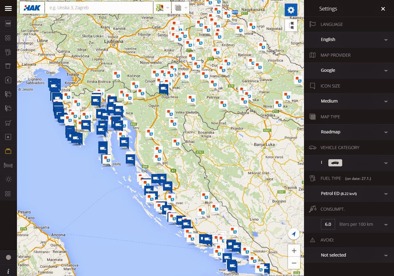 Croatia Map Interactive - Croatia interactive map