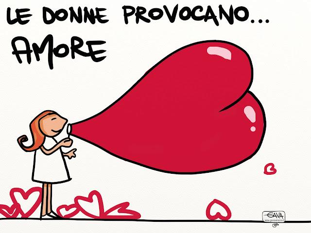 gava satira vignette cuore amore donne parroco chiesa bolle