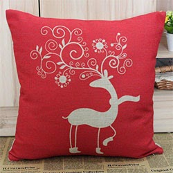Pillow Case Cushion Cover with 1pc Coaster