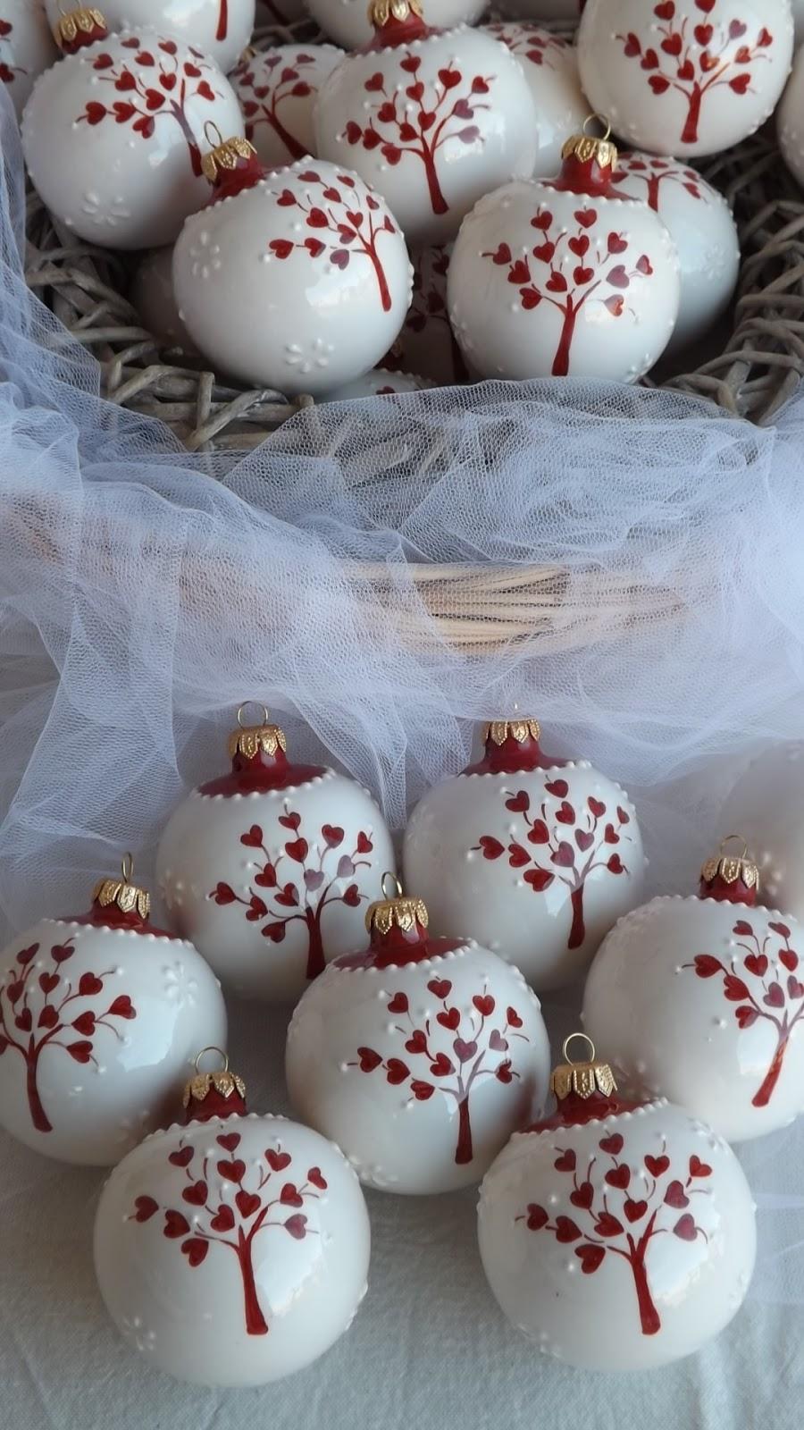 Bien-aimé ceramica come mestiere: Pallina di Natale come bomboniera per il  NM75