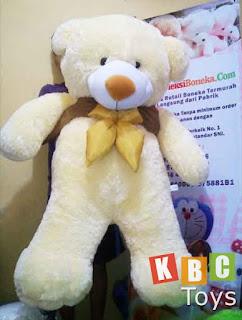 jual boneka teddy bear besar warna cream ukuran 1 5 meter