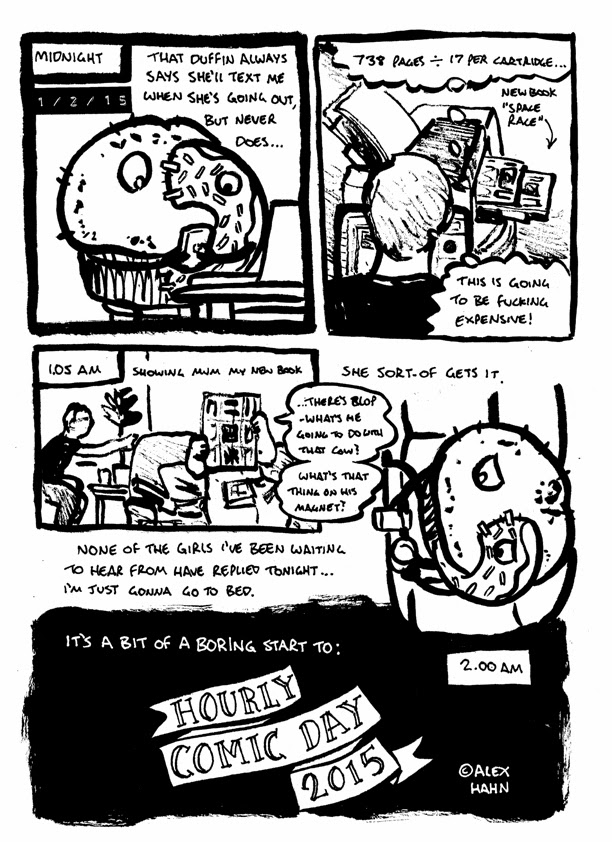 hourly comic day 2015 strip, including muffnut