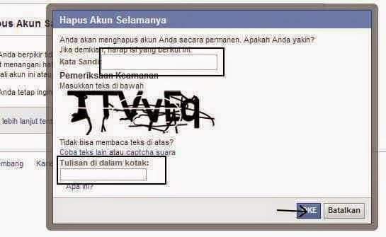 Cara Hapus facebook