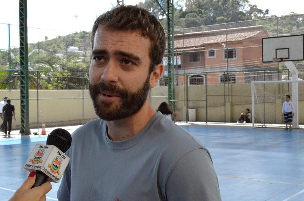 Guilherme Caricchio, professor de Educação Física, destaca que a reforma incentiva os alunos a participar das aulas