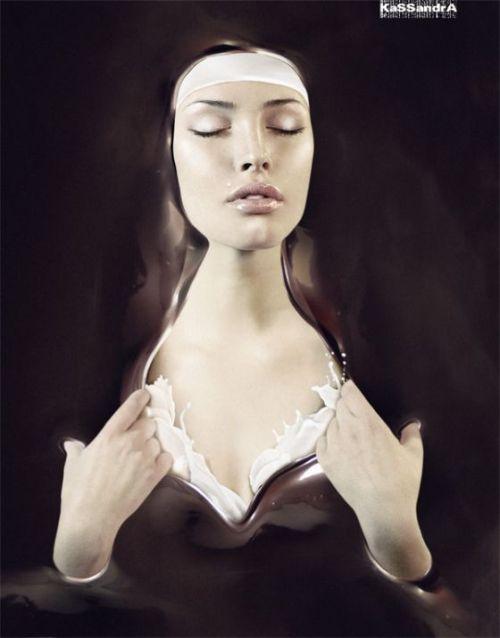 kassandra elka vizerskaya fotografia manipulação digital mulheres sensuais surreal