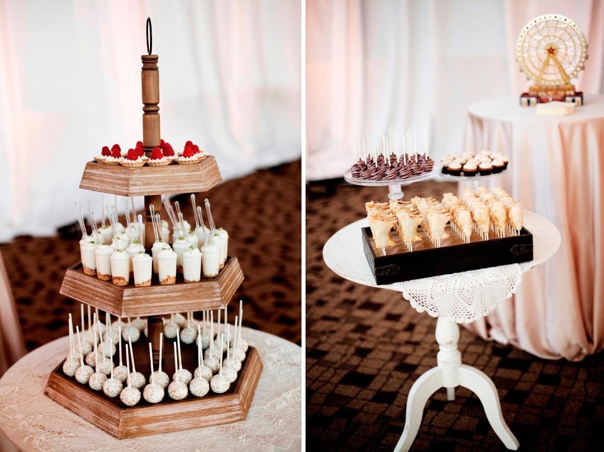 cocoa fig romantic mini dessert table jacey aaron. Black Bedroom Furniture Sets. Home Design Ideas