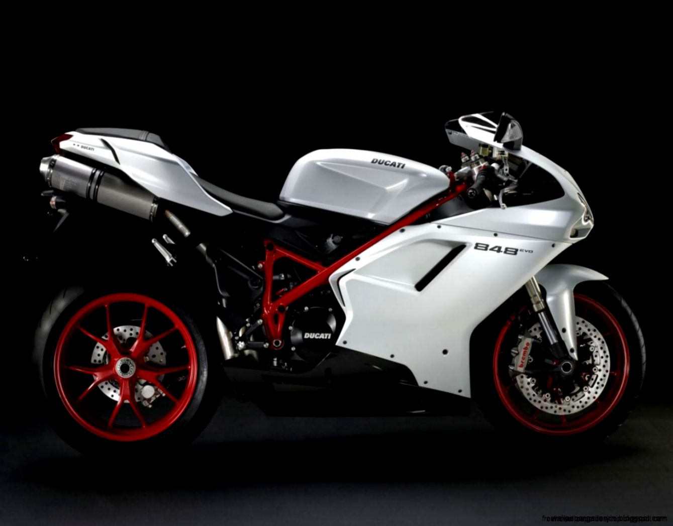 Superbike Ducati 848 Evo Side Cool Wallpaper Desktop  Free High