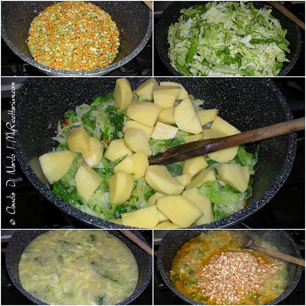 Zuppa di farro con verza e patate