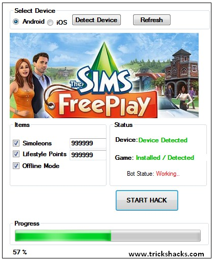 THIS IS THE SIMS FREEPLAY CHEATS AND HACK 2013 (ALL VERSIONS) SCREENSHOT