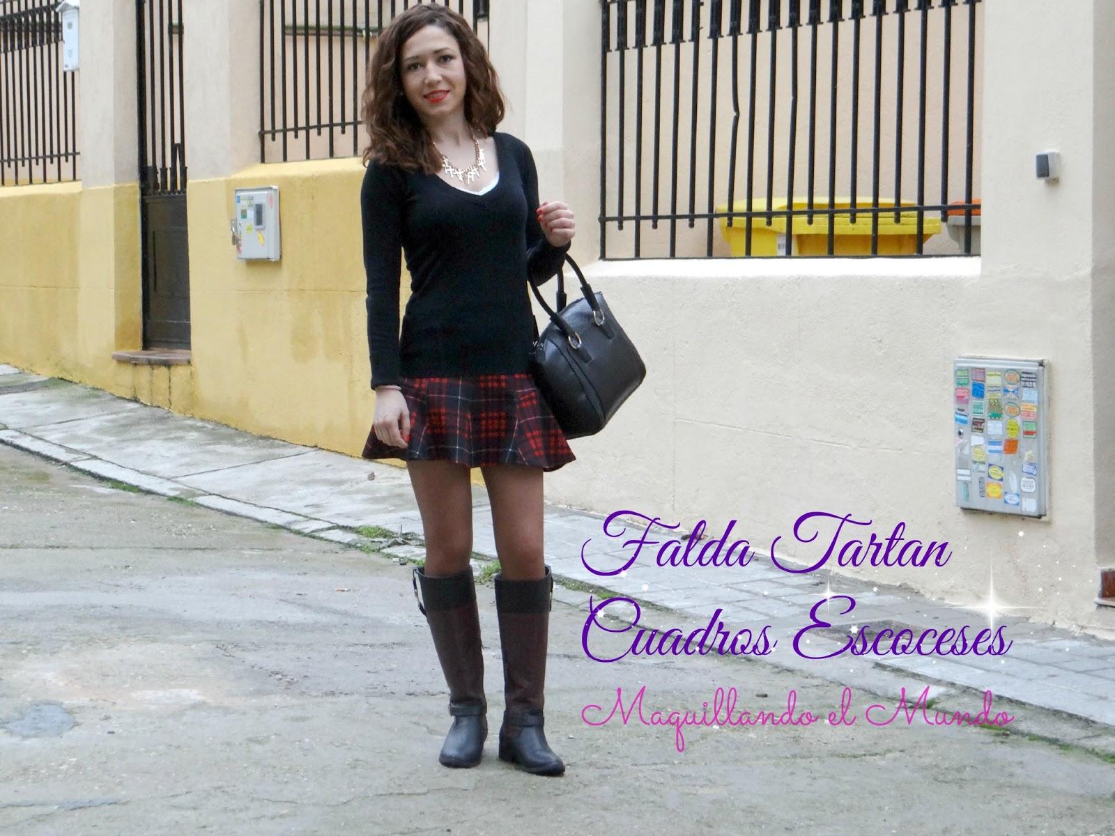 Faldas de moda Faldas de moda con cuadros 1