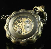 Steampunk pocket watch present