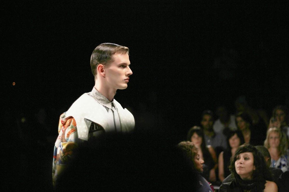 model at new york fashion week catwalk