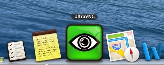 Icono de UltraVNC en Dock
