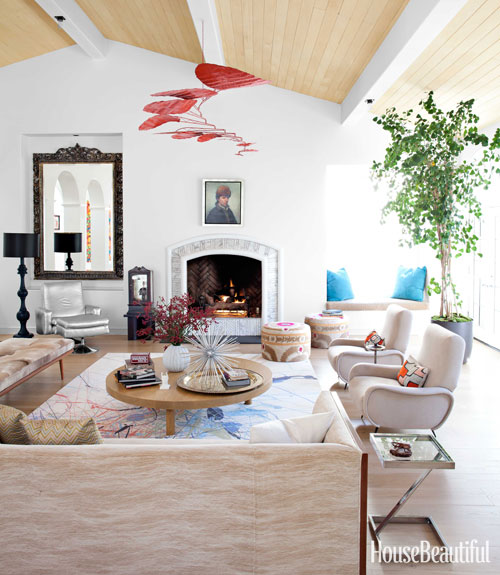 Modern palm boutique eclectic malibu ranch house for Nickey kehoe