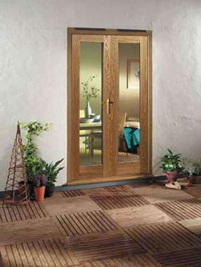Fotos y dise os de puertas puerta de terraza de vidrio for Puertas para patio exterior