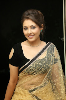 Actress Madhu Shalini Latest Pictures in Saree at Seethavalokanam Press Meet  020.jpg