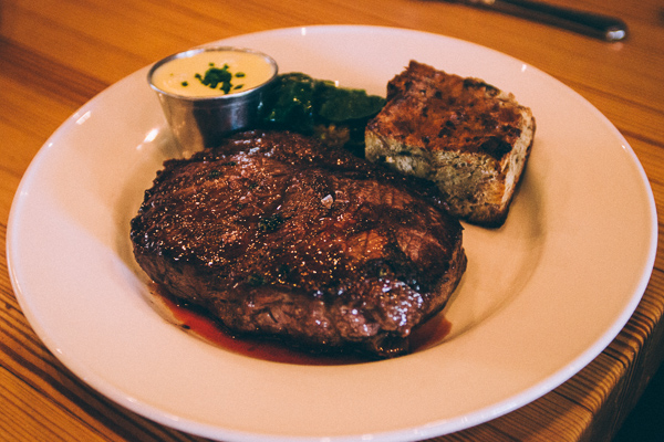 New  York Strip Steak at Pinewood Social in Nashville Tennessee