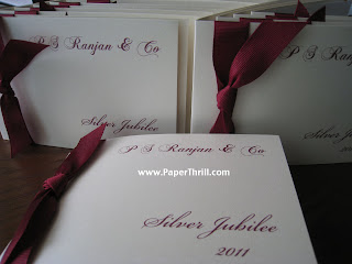 Silver jubilee invitation card