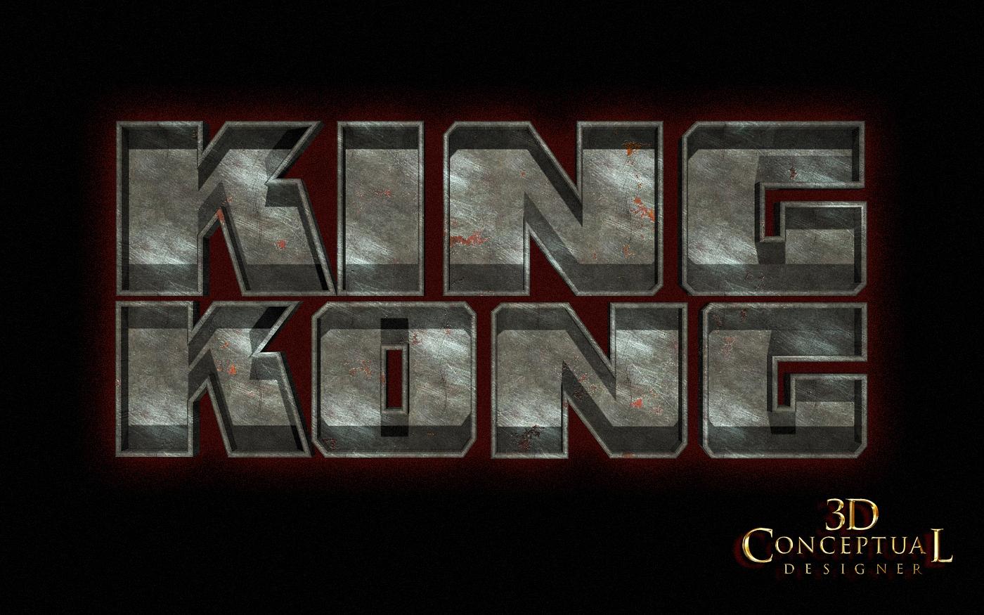 3dconceptualdesignerblog project review king kong 2005 3d logo designs part ii - King kong design ...