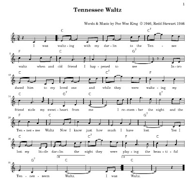 The Simple Piano Song Page The Tennessee Waltz
