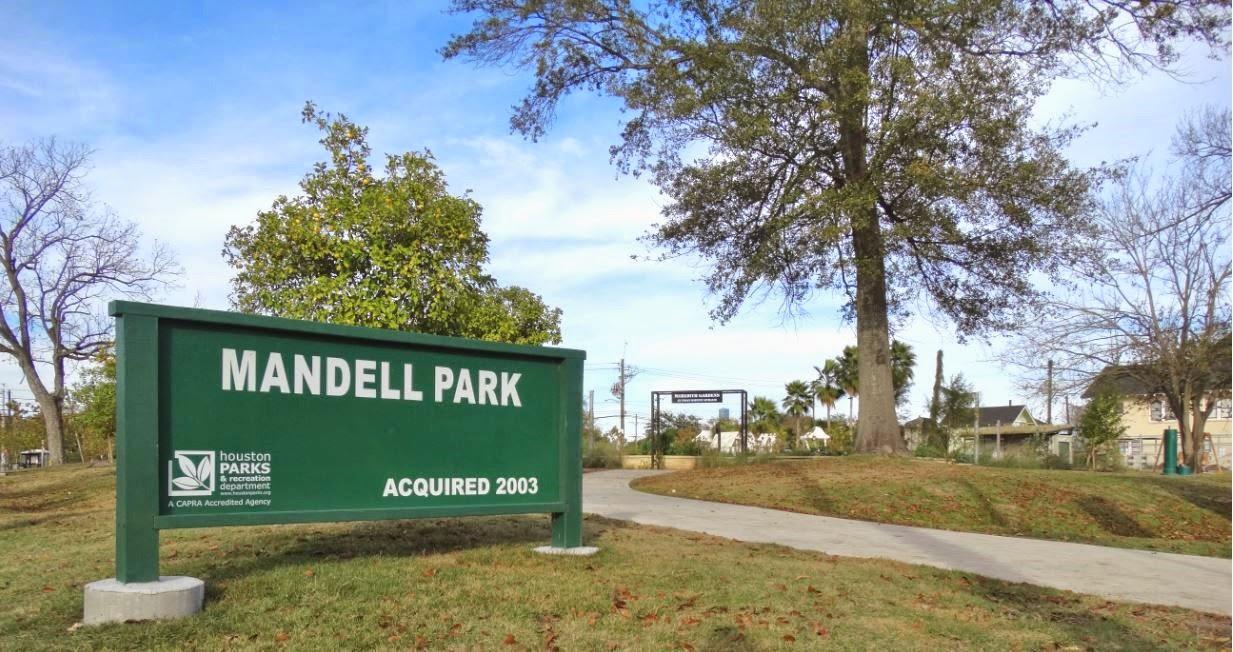 MANDELL PARK (signage) Houston Parks & Recreation Department