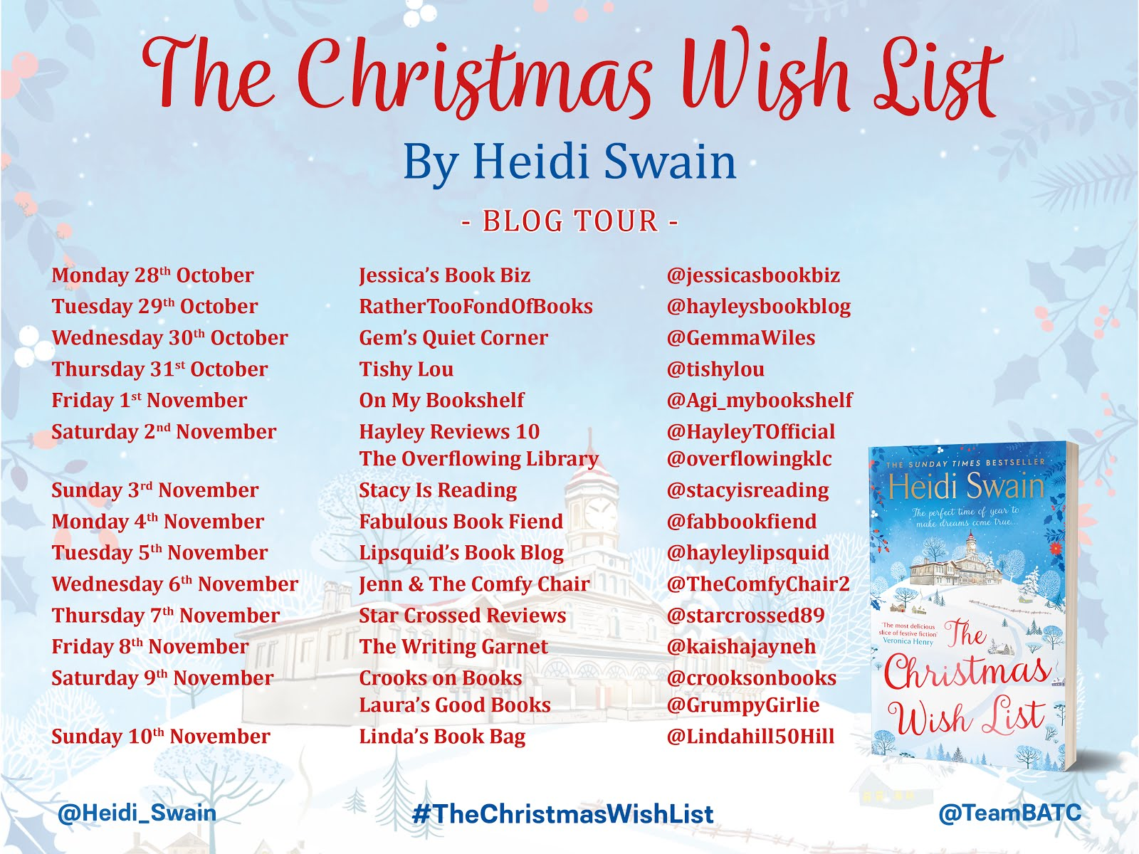 The Christmas Wish List blog tour