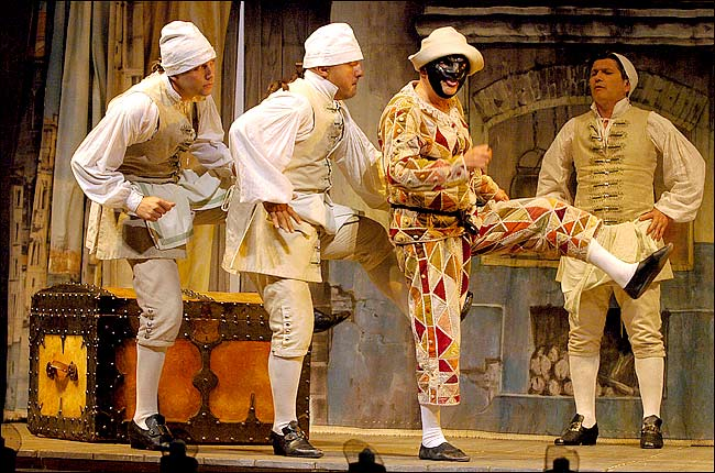 arlecchino servant of two masters Servant of two masters (italian: il servitore di due padroni) is a comedy by the italian playwright carlo goldoni written in 1746 goldoni originally wrote the play at the request of actor antonio sacco, one of the great truffaldinos in history.