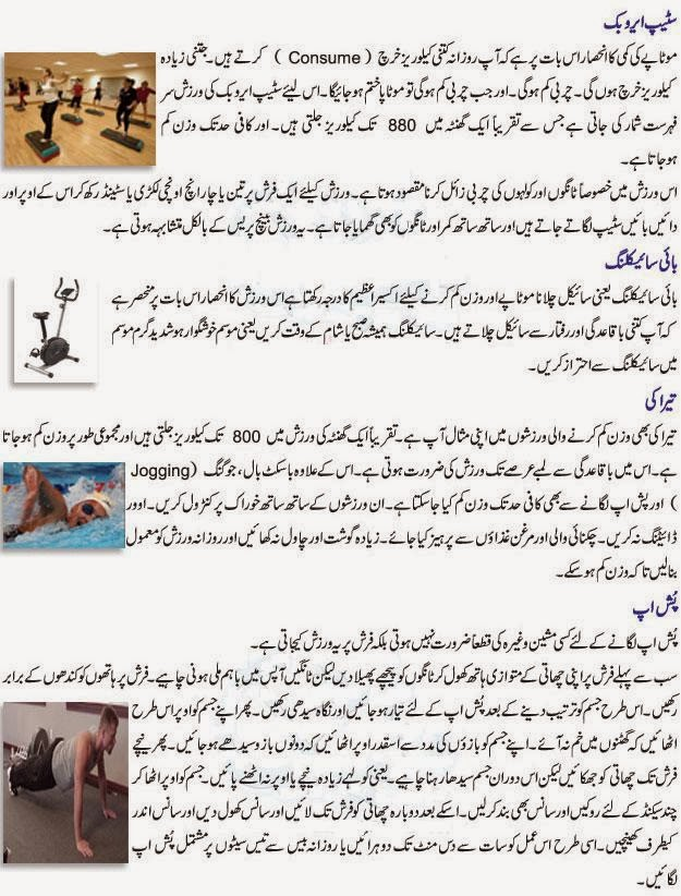 Weight Loss Exercises in Urdu Weight Loss Exercise Tips