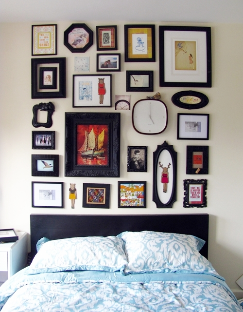 frame collage faux headboard how to sday shrimp salad