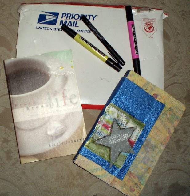 Book, Sketchbook, Markers, and Pen Received from Deborah Lowe